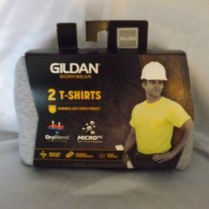 NEW 2 Pack GILDAN WORKWEAR T-Shirts - Gray - 3XL